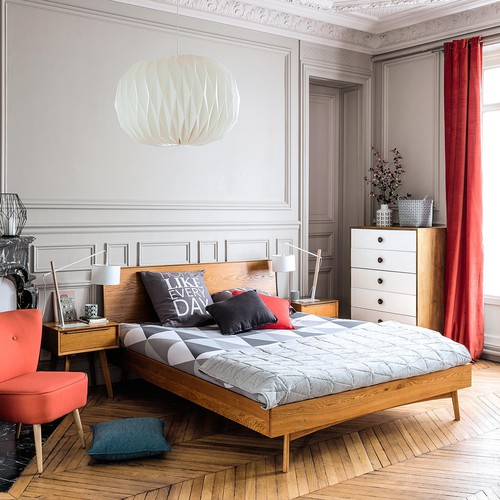 fauteuil vintage en coton corail scandinave maisons du monde. Black Bedroom Furniture Sets. Home Design Ideas