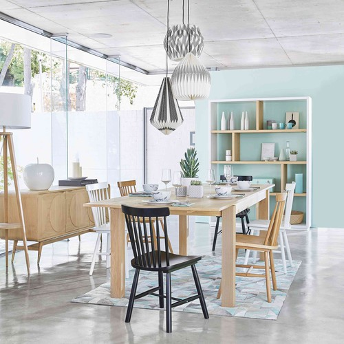Rubber tree wood vintage chair in white Fjord   Maisons du Monde
