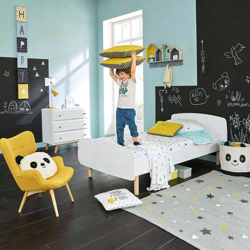 parure de lit enfant 140x200 en coton graphikids maisons du monde. Black Bedroom Furniture Sets. Home Design Ideas
