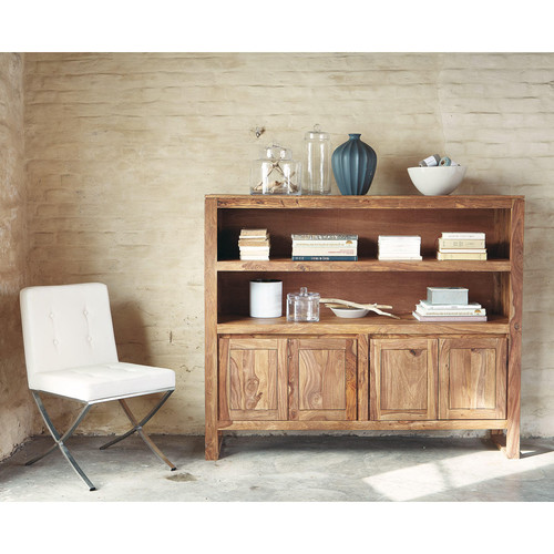 buffet en bois de sheesham massif l 150 cm stockholm maisons du monde. Black Bedroom Furniture Sets. Home Design Ideas