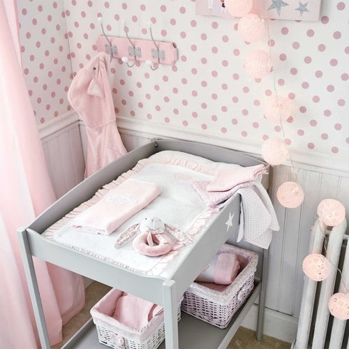 peignoir enfant 2 4 ans en coton rose chat maisons du monde. Black Bedroom Furniture Sets. Home Design Ideas