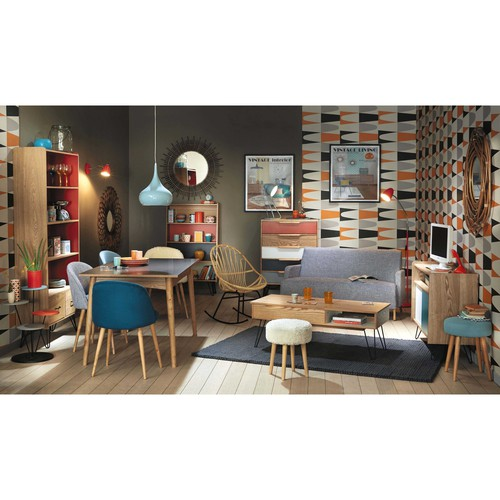Biblioth que vintage orange twist maisons du monde for Maison du monde chaise longue
