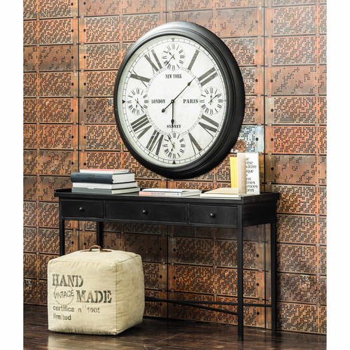 marshall recycled fabric pouffe maisons du monde. Black Bedroom Furniture Sets. Home Design Ideas