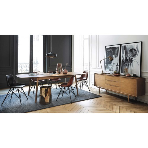 solid oak vintage long sideboard portobello maisons du monde. Black Bedroom Furniture Sets. Home Design Ideas