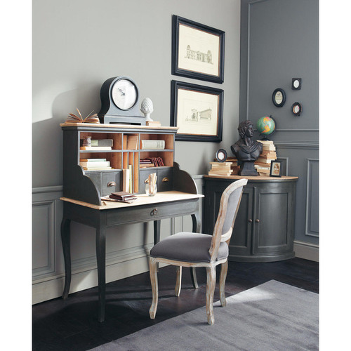 bureau secr taire en manguier noir chinon maisons du monde. Black Bedroom Furniture Sets. Home Design Ideas