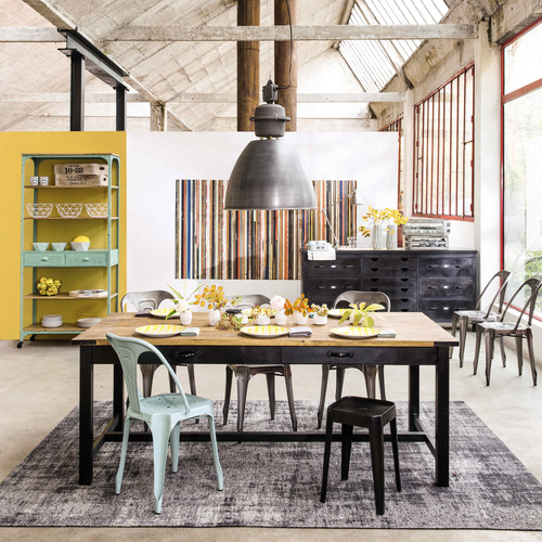 Suspension en m tal gris anthracite l 46 cm jefferson maisons du monde - Loft maison du monde ...
