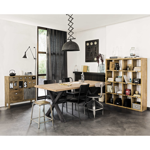 table manger en manguier 8 10 personnes l200 ellis maisons du monde. Black Bedroom Furniture Sets. Home Design Ideas