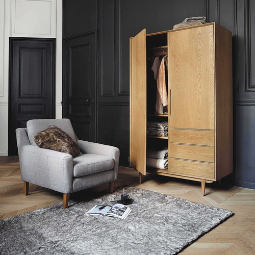 armario de roble macizo an 120 cm portobello maisons du. Black Bedroom Furniture Sets. Home Design Ideas