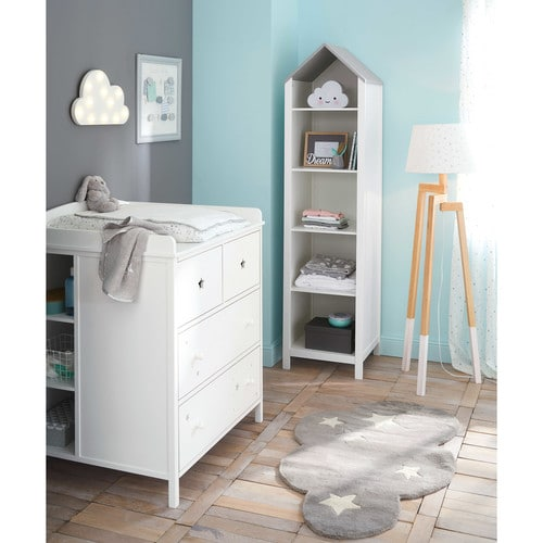 d co murale lumineuse nuage blanc 45x25cm moonlight. Black Bedroom Furniture Sets. Home Design Ideas