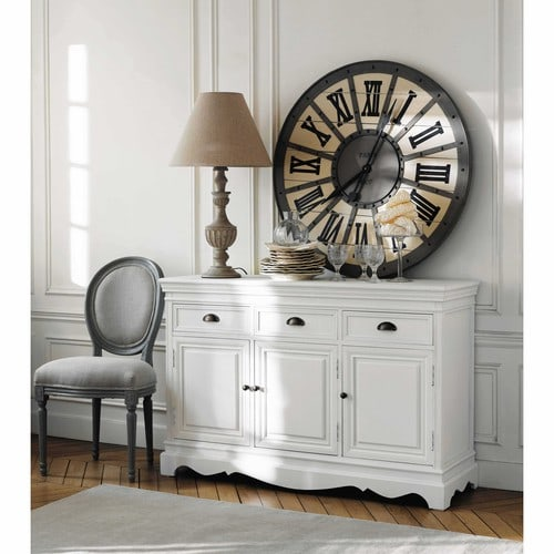 buffet en bois de paulownia blanc l 131 cm jos phine maisons du monde. Black Bedroom Furniture Sets. Home Design Ideas