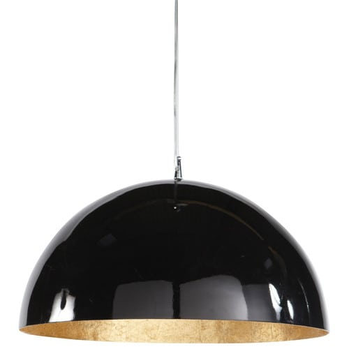 AMBRE Plastic Ceiling Light In Black And Gold D 49cm