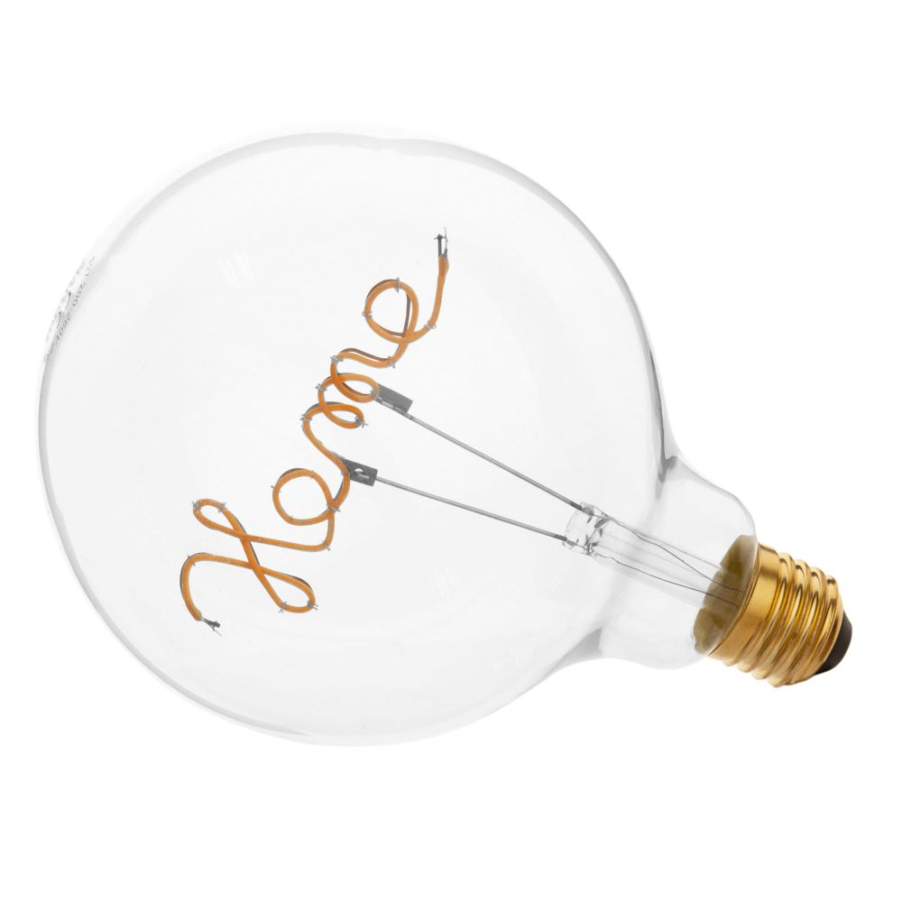 Ampoule LED message home en verre (photo)