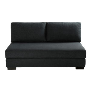 Anthracite Grey 2-Seater Modular Sofa Bench