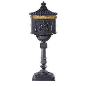 Anthracite Grey Cast Iron Outdoor Decorative Letter Box