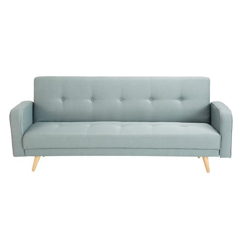 aqua 3 seater clic clac sofa bed broadway maisons du monde. Black Bedroom Furniture Sets. Home Design Ideas