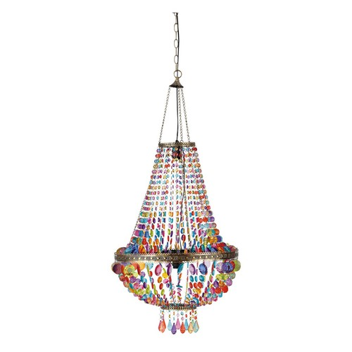 arabian nights chandelier with hanging beads maisons du. Black Bedroom Furniture Sets. Home Design Ideas