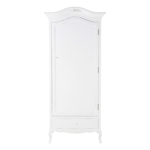 armoire en bois blanche l 90 cm charlotte maisons du monde. Black Bedroom Furniture Sets. Home Design Ideas