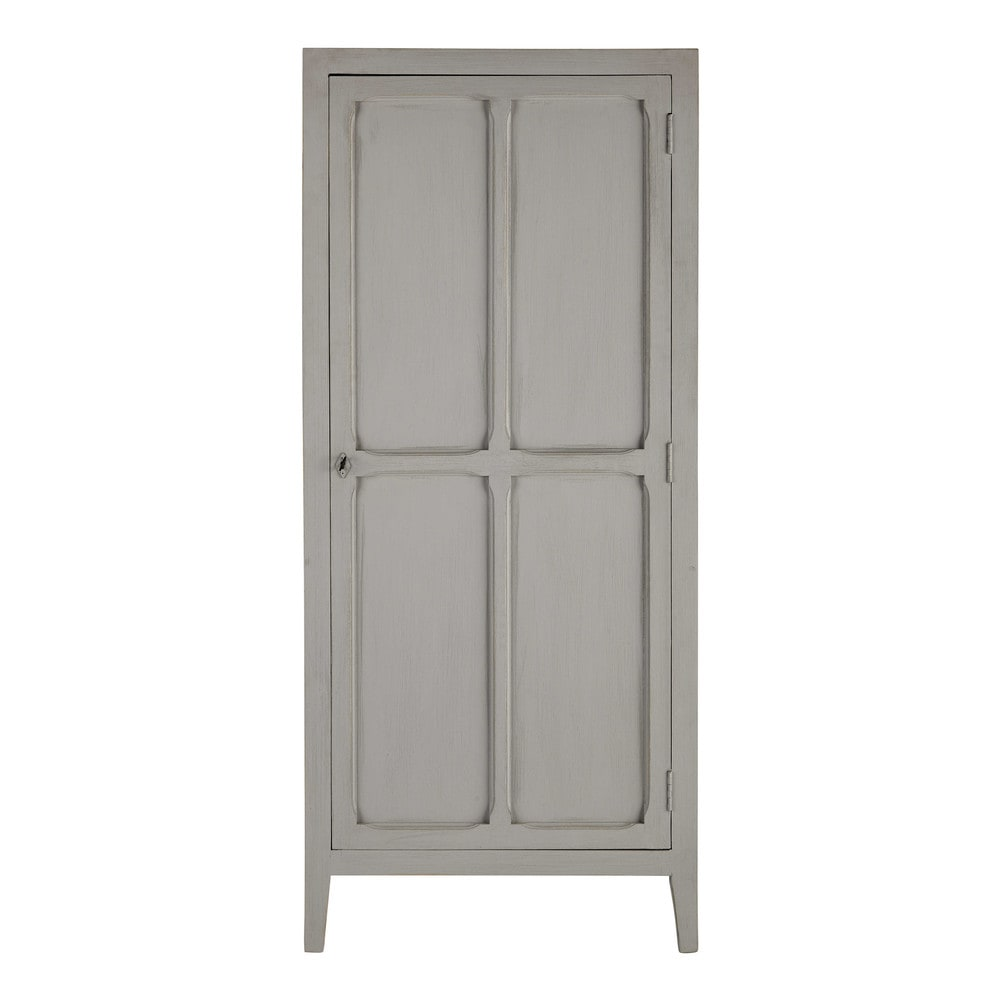 Armoire en manguier gris L 75 cm Pensionnat (photo)