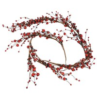 Artificial Berries Garland, Red, L125 Tradition