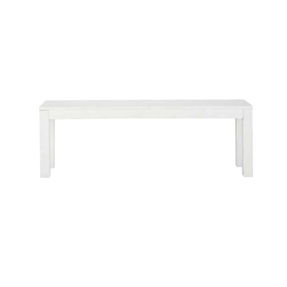 Banc en pin massif blanc L 135 cm White (photo)