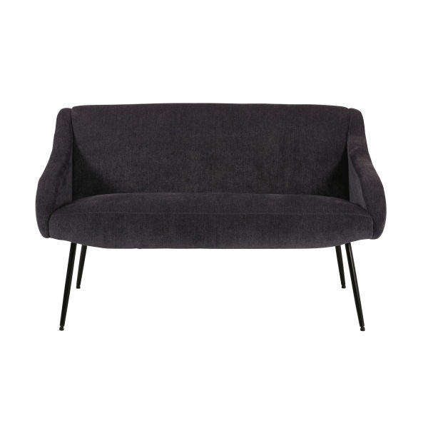 Banquette 2 places en tissu anthracite Joyce (photo)