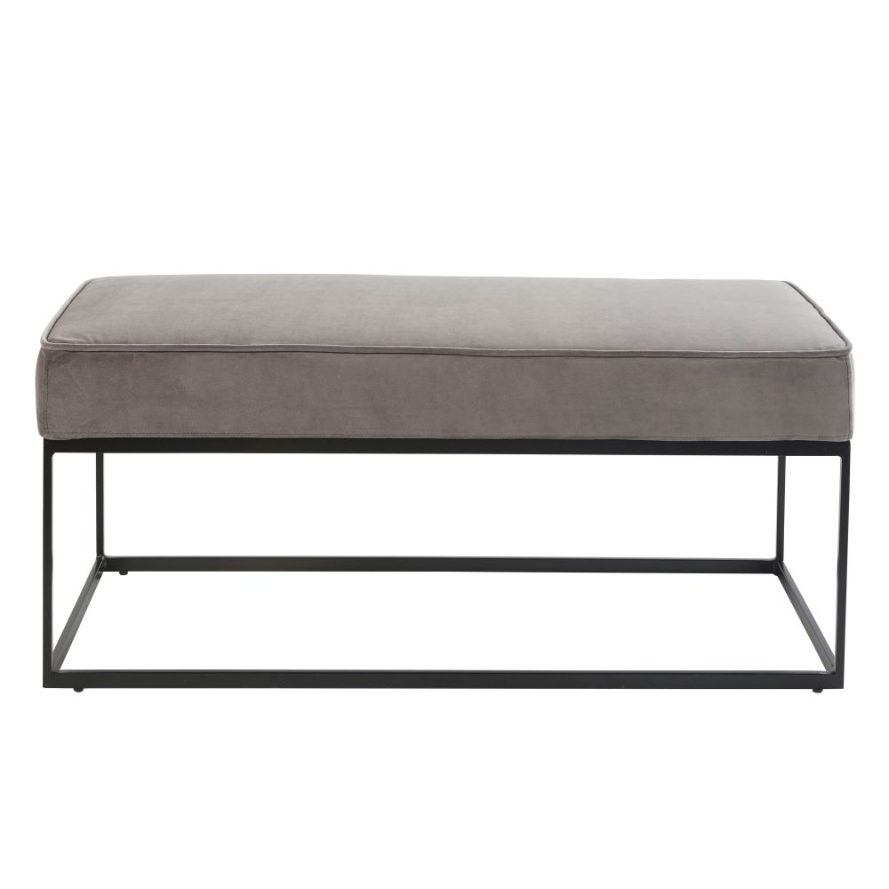 Banquette 2 places gris anthracite (photo)