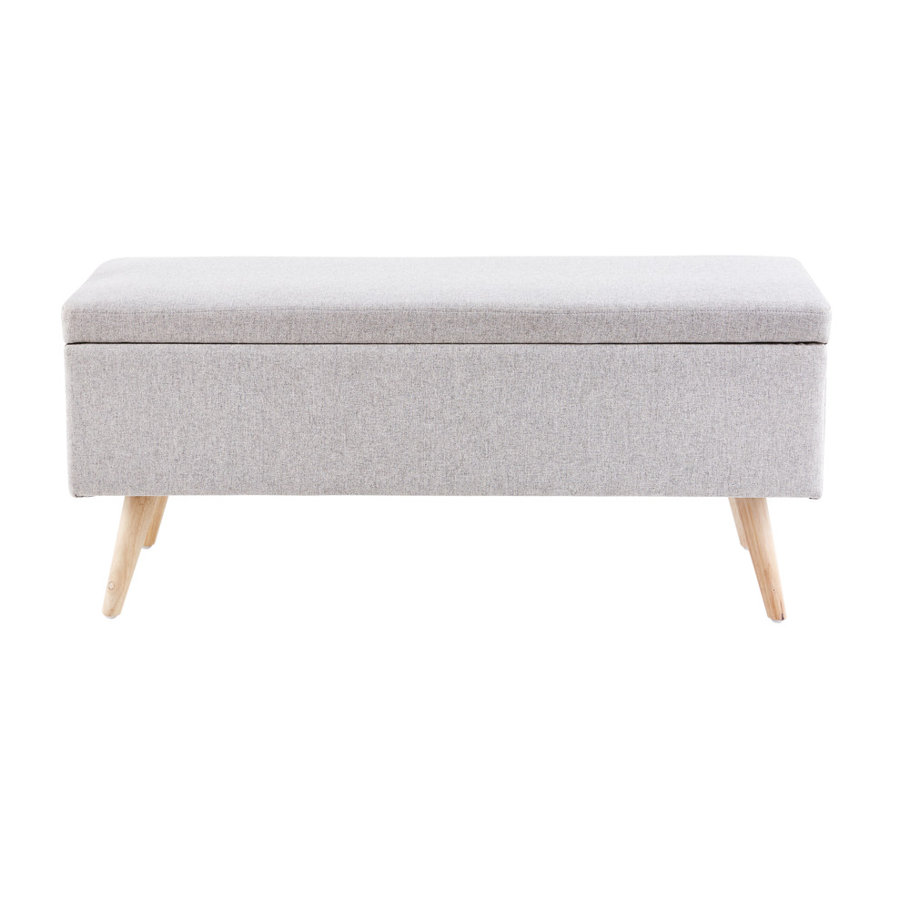 Banquette coffre vintage grise (photo)
