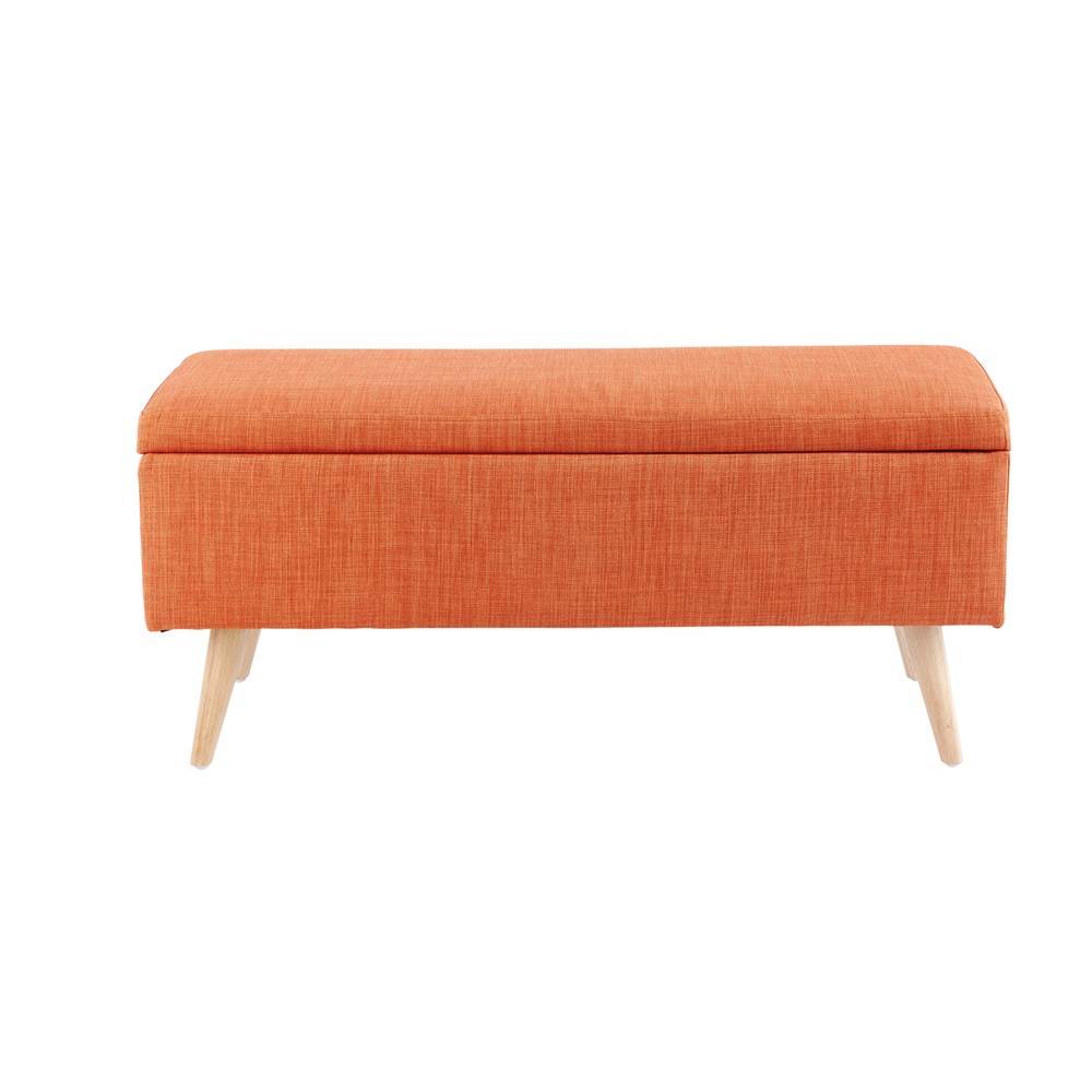 Banquette coffre vintage orange (photo)
