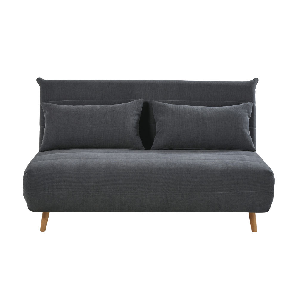 Banquette convertible 2 places gris anthracite Nio