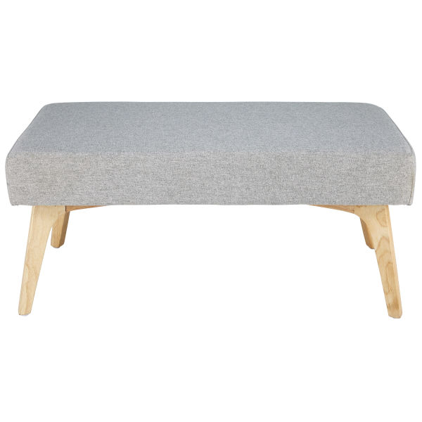 Banquette en coton gris L.84cm NEVEN (photo)
