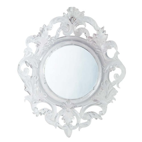 Baroque translucent mirror maisons du monde for Baroque resin mirror