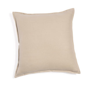 Beige Washed Linen Cushion 45x45