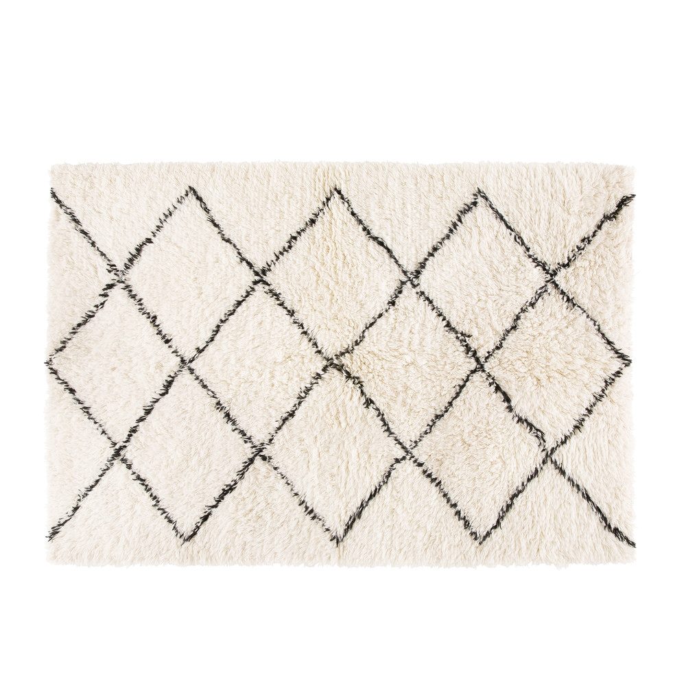 berber wool and cotton rug 140x200 | maisons du monde Berber Rug
