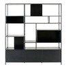 biblioth que 3 portes en m tal noir maisons du monde. Black Bedroom Furniture Sets. Home Design Ideas
