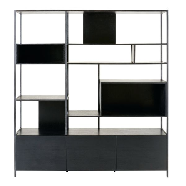 meuble metal noir. Black Bedroom Furniture Sets. Home Design Ideas
