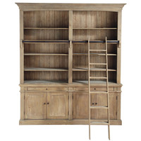 lustre 5 branches en bois de paulownia et coton taupe d 77 cm chaumont maisons du monde. Black Bedroom Furniture Sets. Home Design Ideas