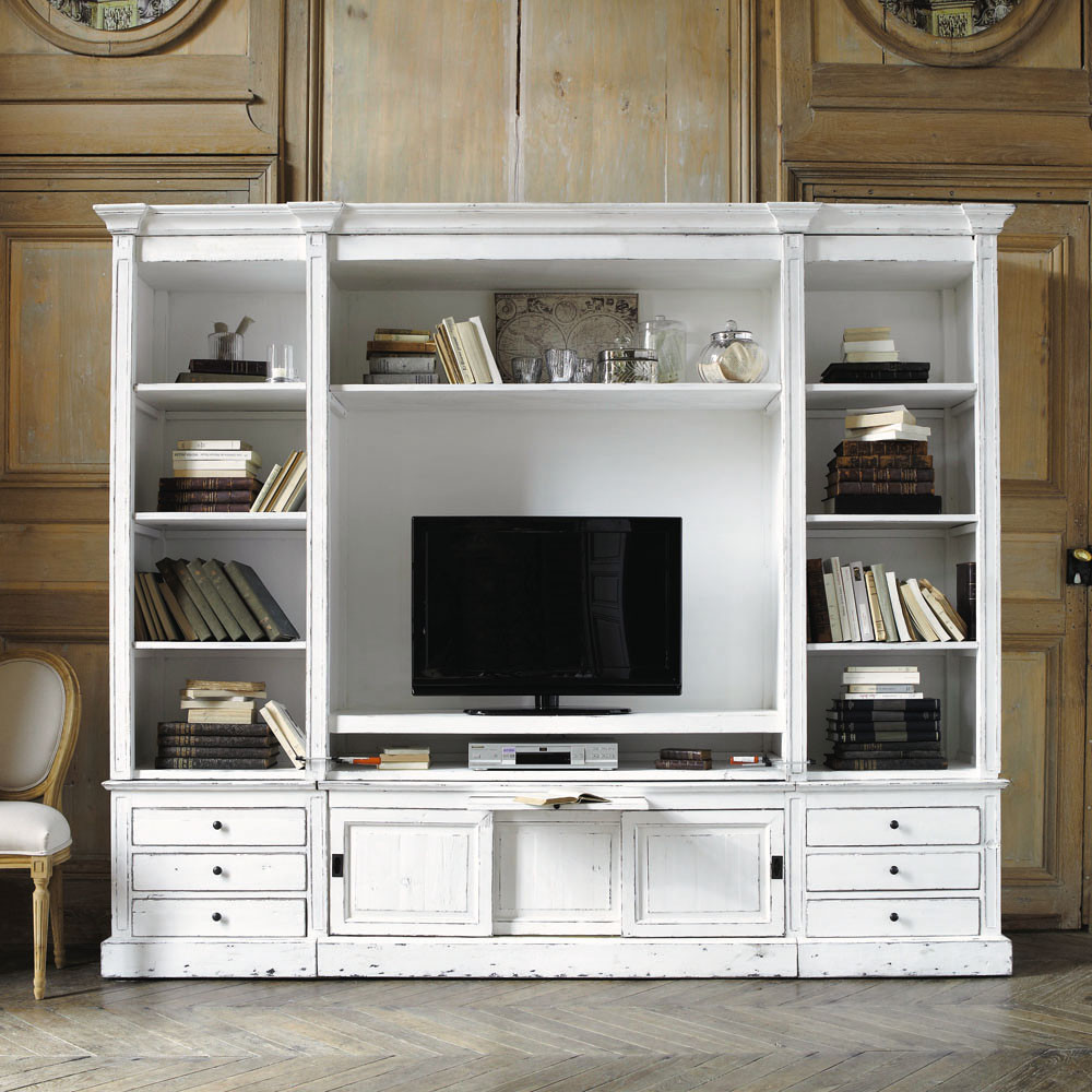 Meuble Tv Bibliotheque Bois - Biblioth Que Meuble Tv En Bois Massif Ivoire L 264 Cm Maisons Du [mjhdah]http://foggsofventnor.com/wp-content/uploads/2018/01/gorge-meuble-tv-bibliotheque-merisier-design-chemin-e-for-61-tv.jpg