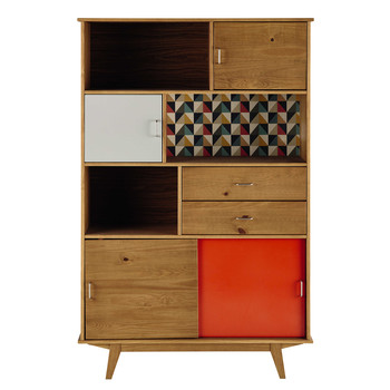 finest bibliothque vintage en bois griseorange l cm paulette with miroir industriel maison du monde. Black Bedroom Furniture Sets. Home Design Ideas