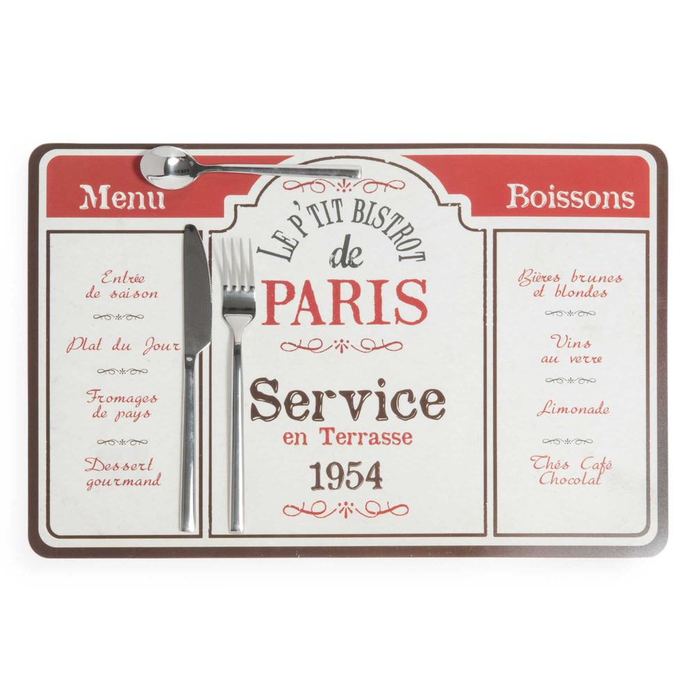 Bistrot de Paris table mat