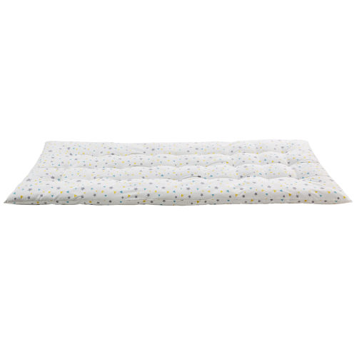 Blue and White Cotton Futon Mattress 90 x 190