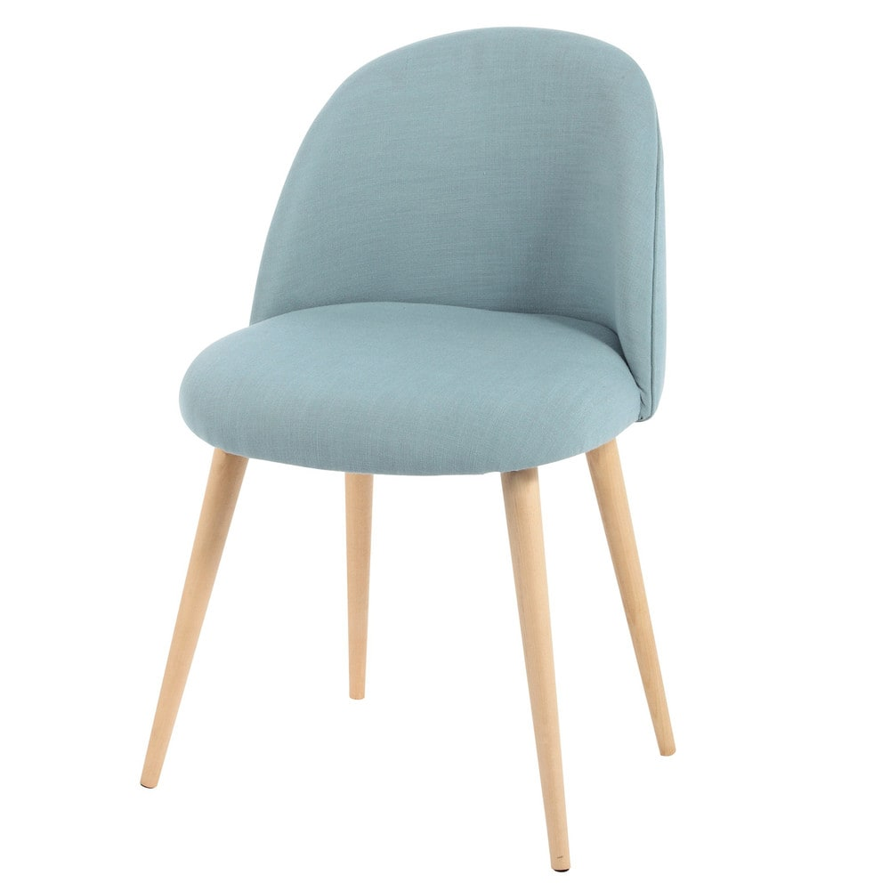 Blue Vintage Chair with Solid Birch Maisons du Monde