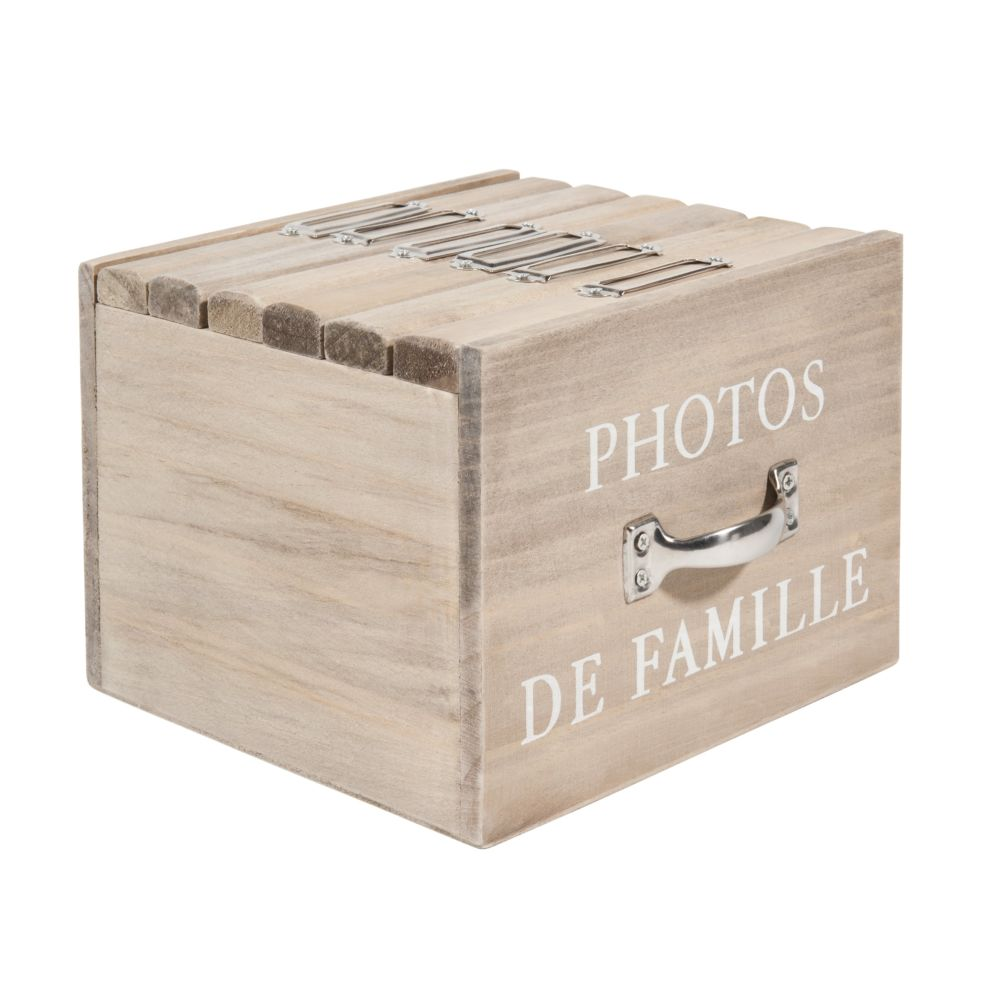 Boîte 6 albums photo en bois 13 x 17 cm FELICITE (photo)