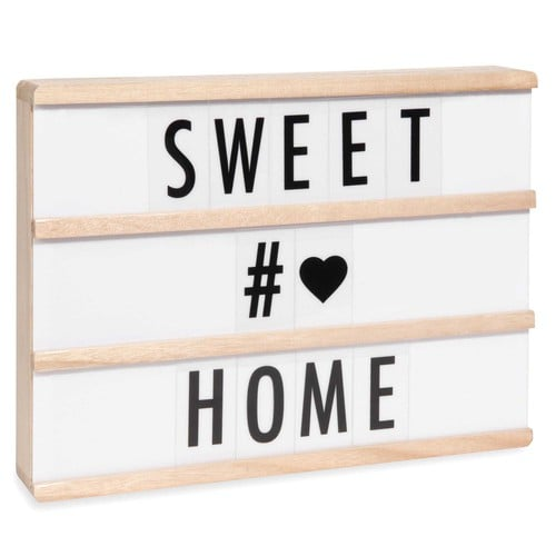bo te lumineuse messages light box led a4 maisons du monde. Black Bedroom Furniture Sets. Home Design Ideas