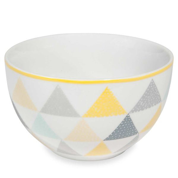 Bol en porcelaine blanche à triangles LEMON