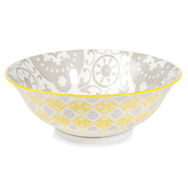 Bol en porcelaine gris YELLOW (photo)