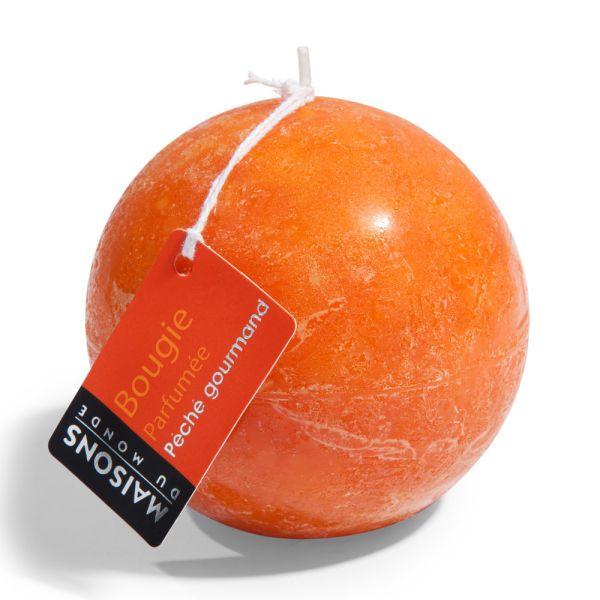 Bougie boule parfumée orange H 9 cm