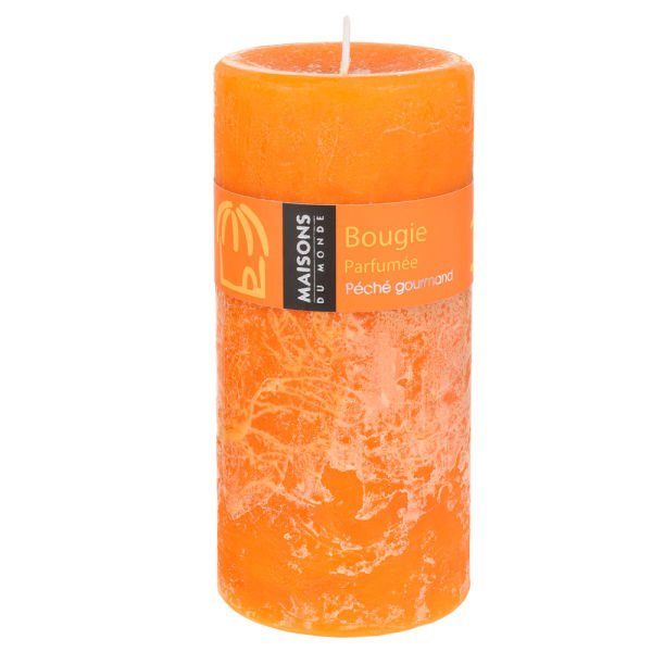 Bougie Cylindrique 7x15 cm orange