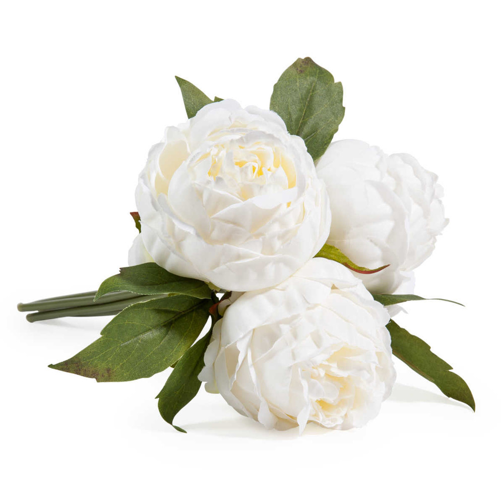 Bouquet of 3 white peony artificial flowers