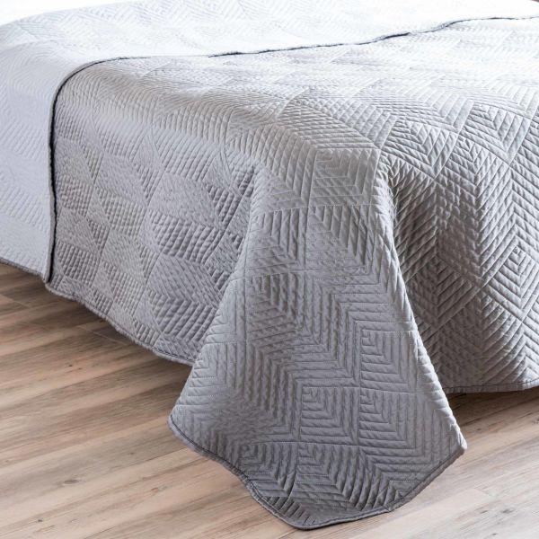 Boutis gris 240 x 260 cm UPPER (photo)