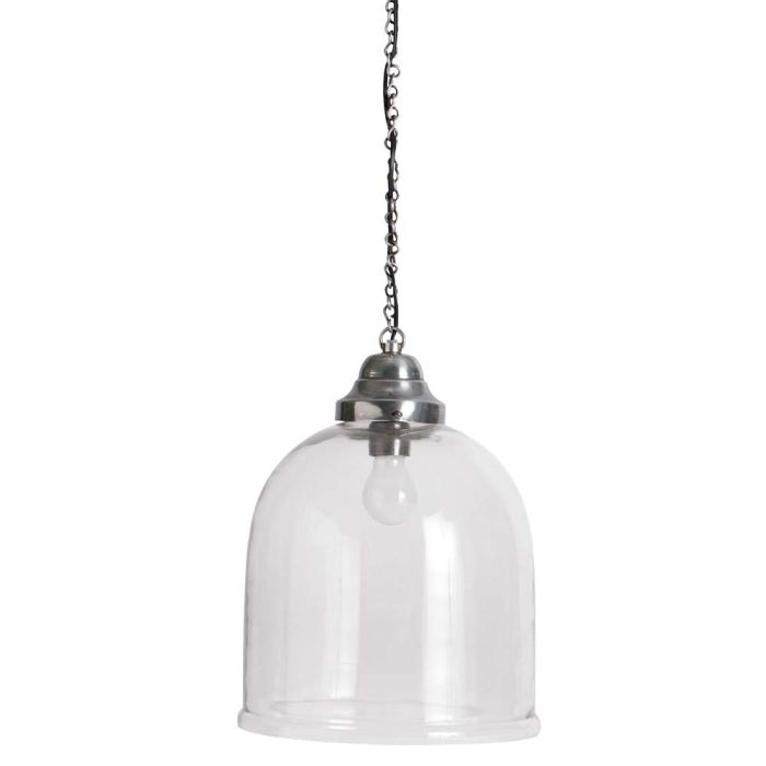 Chrome Finish Metal Pendant Lamp D 29cm Brocante Maisons Du Monde